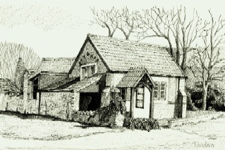 Aust Village Hall drawing