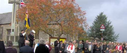 Remembrance Ceremony in Olveston - November 2008