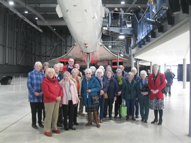 WI and Concorde on a visit to Aerospace Bristol